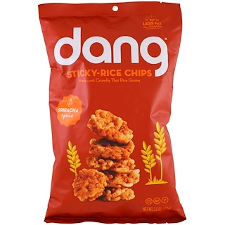 Dang Foods LLC, Sticky- Rice Chips, Sriracha, 3.5 oz (100 g)