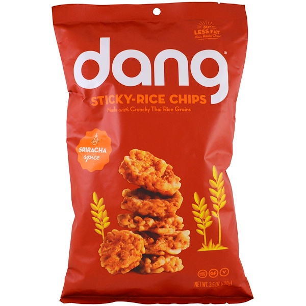 Dang Foods LLC, Sticky- Rice Chips, Sriracha, 3.5 oz (100 g) (Discontinued Item)
