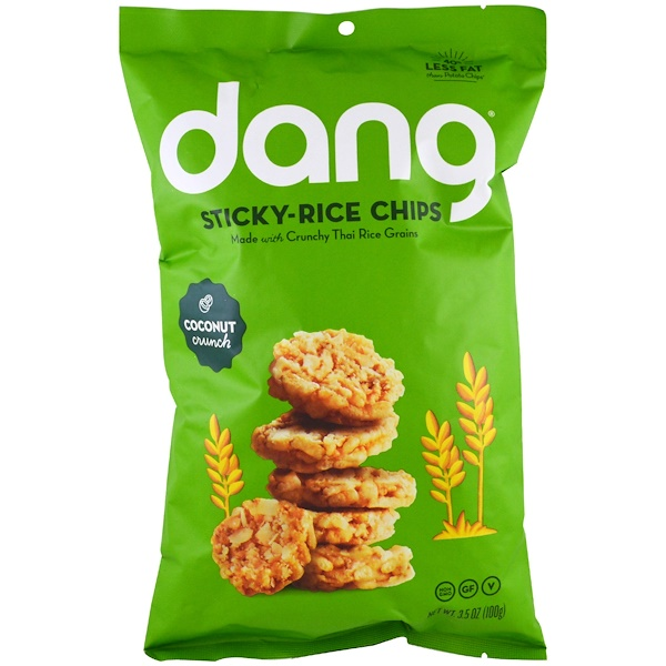 Dang, Sticky-Rice Chips, Coconut, 3.5 oz (100 g) (Discontinued Item)