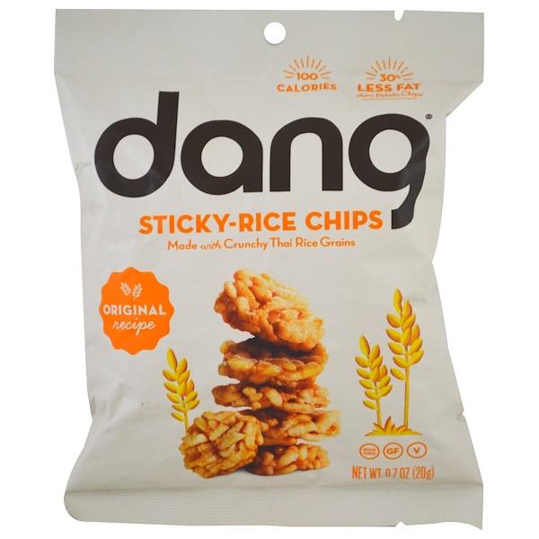Dang, Chispas de arroz, Receta original, 0,7 oz (20 g) (Discontinued Item)