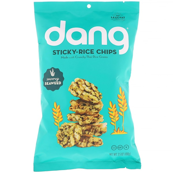 Dang, Sticky-Rice Chips, Savory Seaweed, 3.5 oz (100 g) (Discontinued Item)