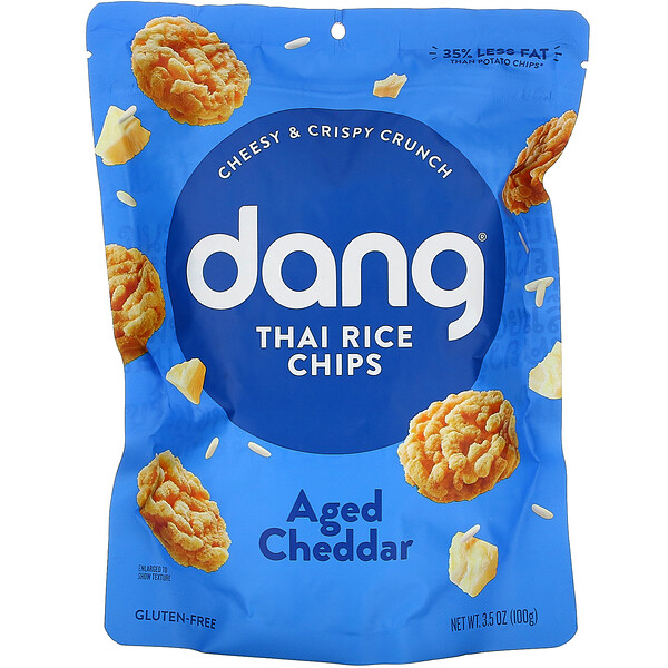 Dang, Thai Rice Chips, Aged Cheddar, 3.5 oz (100 g)