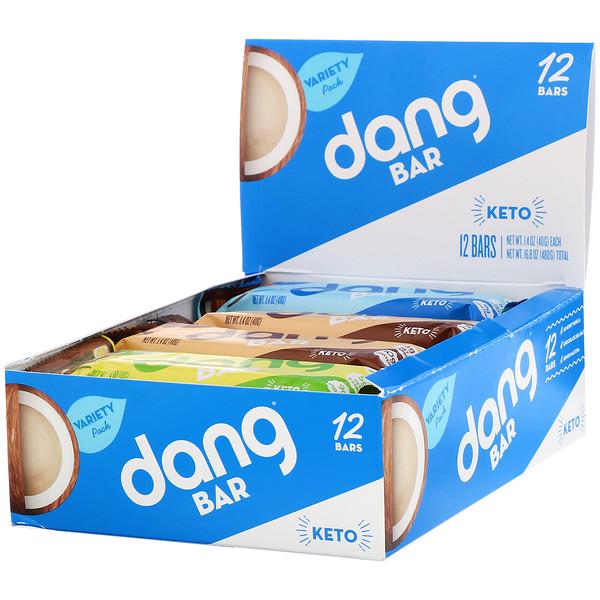 Keto Bar, Variety Pack, 12 Bars, 1.4 oz (40 g) Each