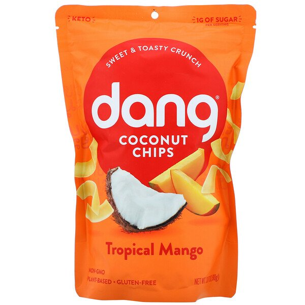 Coconut Chips, Tropical Mango, 3.17 oz (90 g)