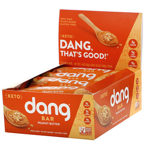 Dang, Keto Bar, Peanut Butter, 12 Bars, 1.4 oz (40 g) Each