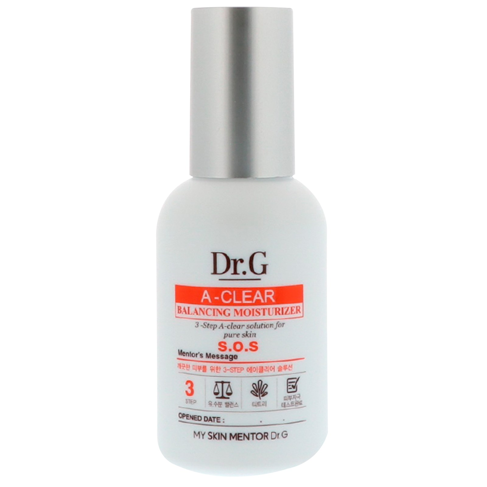 Dr. G, A-Clear, Oil Control Sun Cream SPF50+ PA++, 1.69 fl oz (pack of 1) Balancing Foaming Cleanser  200ml/6.7oz
