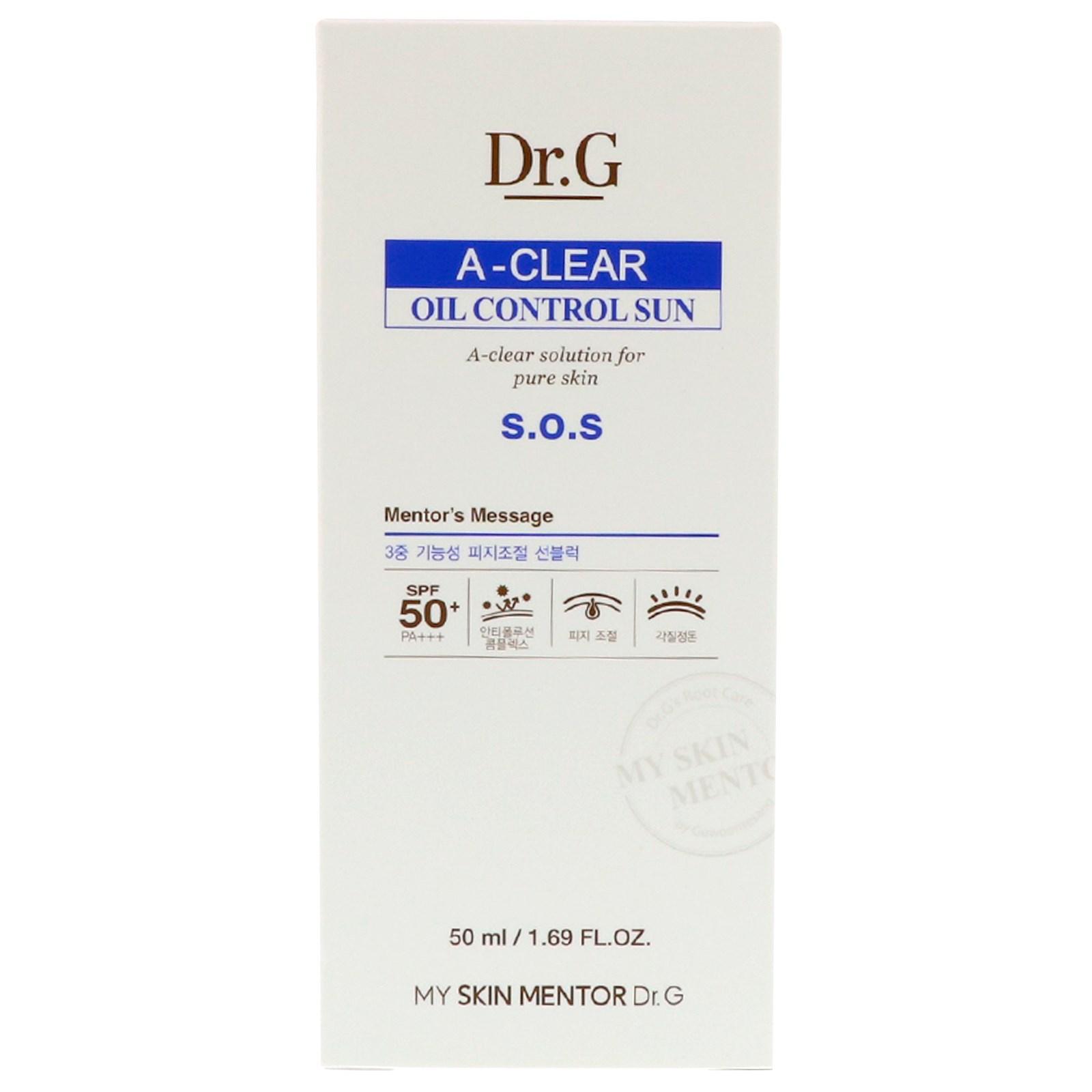 Dr G A Clear Oil Control Sun Cream Spf50 Pa 169 Fl Oz 50 Ml Shampoo Strong Soft Women 170 Click To Zoom
