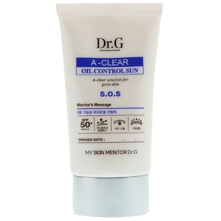 Dr. G, A-Clear, Oil Control Sun Cream SPF50+ PA++, 1.69 fl oz (50 ml)