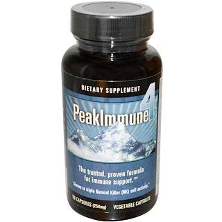 Daiwa Health Development, Peak Immune 4, 250 mg, 50 Veggie Caps