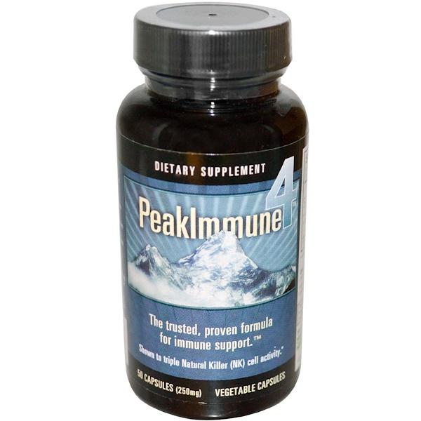 Daiwa Health Development, Peak Immune 4, 250 mg, 50 Veggie Caps