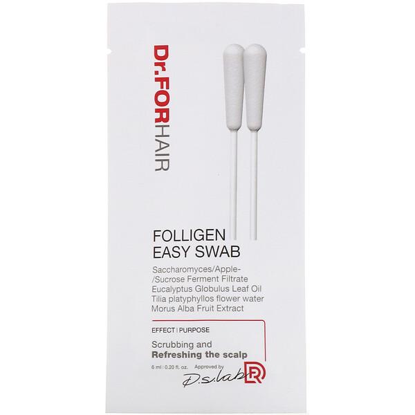 Folligen Easy Swab, 10 Packets, 0.20 fl oz (6 ml)