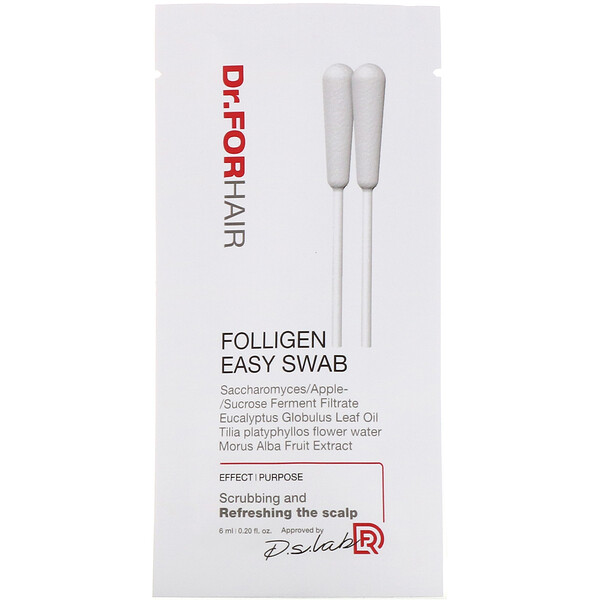 Dr.ForHair, Hisopo húmedo Folligen, 10 paquetes, 6ml (0,20oz.liq.) (Discontinued Item)