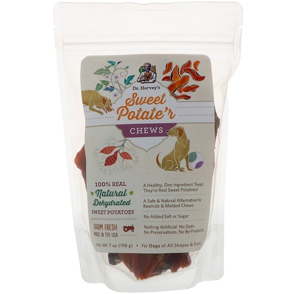 Dr. Harvey's, Sweet Potate'r Chews, For Dogs, 7 oz (198 g) (Discontinued Item)