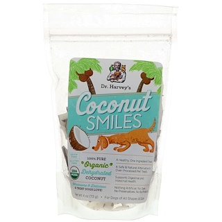 Dr. Harvey's, Coconut Smiles, For Dogs, 4 oz (113 g)