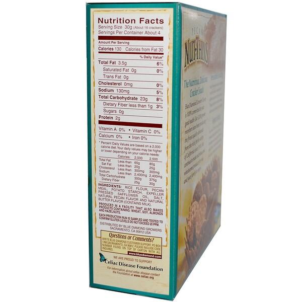Blue Diamond, Pecan Nut-Thins, Nut & Rice Cracker Snacks, 4.25 oz (120.5 g) (Discontinued Item)