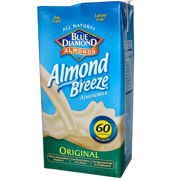 Blue Diamond, Almond Breeze, Almond Milk, Original, 64 fl oz (1.89 L) (Discontinued Item)