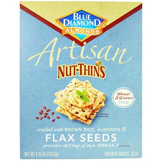 Blue Diamond, Artisan Nut-Thins, Galletas cracker de semilla de linaza, 4.25 oz (120.5 g)