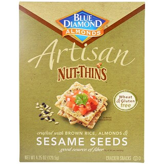 Blue Diamond, Artisan Nut-Thins, Sesame Seeds Cracker Snacks, 4.25 oz (120.5 g)