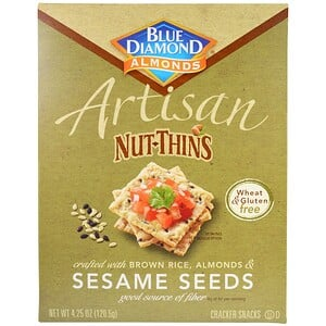 Блу Даймонд, Artisan Nut-Thins, Sesame Seeds Cracker Snacks, 4.25 oz (120.5 g) отзывы