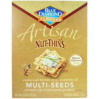 Blue Diamond, Artisan Nut-Thins, Multi-Seeds Cracker Snacks, 4.25 oz (120.5 g)