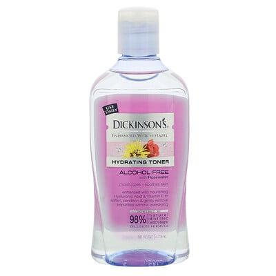 Купить Dickinson Brands Enhanced Witch Hazel, Hydrating Toner, With Rosewater, Alcohol Free, 16 fl oz (473 ml)