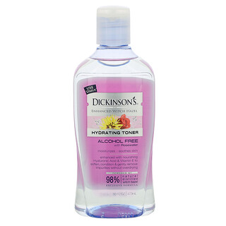 Dickinson Brands, Enhanced Witch Hazel, Hydrating Toner with Rosewater, Alcohol Free, 16 fl oz (473 ml)