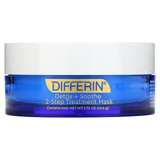 Differin, Detox + Soothe, 2-Step Treatment Beauty Mask, 1.75 oz (49.6 g)