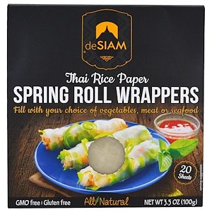 Десиам, Thai Rice Paper, Spring Roll Wrappers, 20 Sheets, 3.5 oz (100 g) отзывы