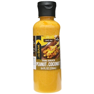 deSIAM, Thai Sauce Peanut & Coconut, Mild, 8.4 fl oz (250 ml)
