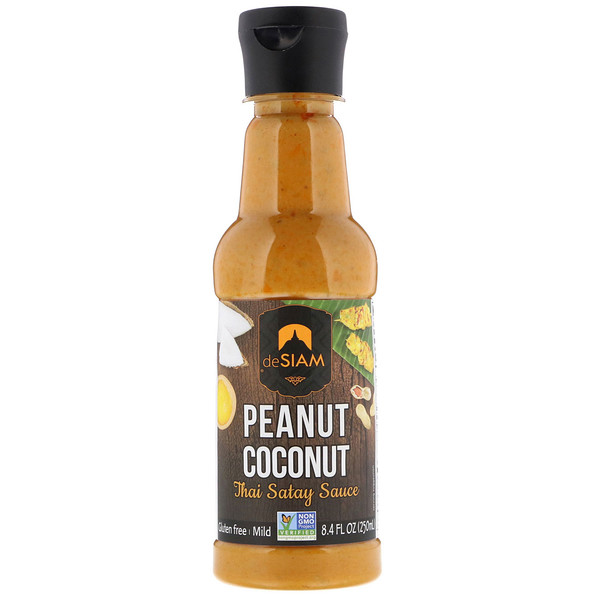 deSIAM, Thai Satay Sauce, Peanut & Coconut, Mild, 8.4 fl oz (250 ml) (Discontinued Item)