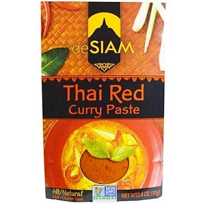 deSIAM, Тайский красный карри, острый, 2,4 унции (70 г)