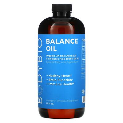 BodyBio Balance Oil, Organic Linoleic Acid and Linolenic Acid Blend, 16 fl oz (473 ml)