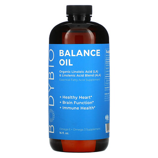 BodyBio, Balance Oil, Organic Linoleic Acid and Linolenic Acid Blend, 16 fl oz (473 ml)