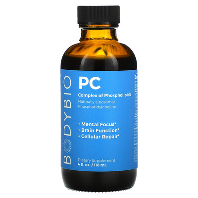 BodyBio PC, Complex of Phospholipids, 1,300 mg, 4 fl oz (118 ml)