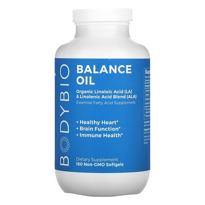 BodyBio Balance Oil, 180 Non-GMO Softgels