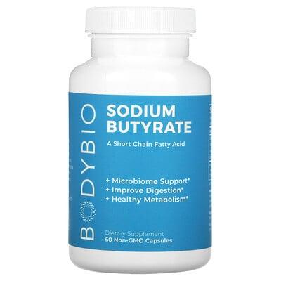 BodyBio Sodium Butyrate, 60 Non-GMO Capsules