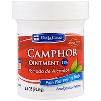 Камфорная мазь, средство для устранения боли, 2,5 унции (70,9 г) - фото