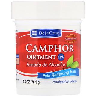 De La Cruz, Camphor Ointment, Pain Relieving Rub, 2.5 oz (70.9 g)