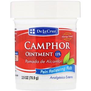 Дэ Ля Круз, Camphor Ointment, Pain Relieving Rub, 2.5 oz (70.9 g) отзывы