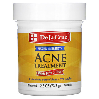 De La Cruz, Acne Treatment Ointment with 10% Sulfur, Maximum Strength, 2.6 oz (73.7 g)