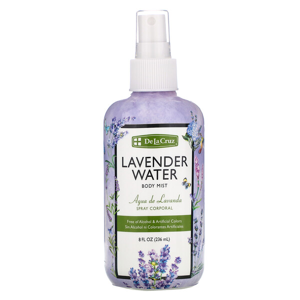 De La Cruz, Lavender Water Body Mist, 8 fl oz (236 ml) (Discontinued Item)