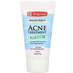 De La Cruz, Ointment, Acne Treatment with 5% Sulfur, Regular Strength, 2.6 oz (74 g)