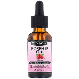 De La Cruz, Rosehip Oil, Rejuvenating Facial Moisturizer, 1 fl oz (30 ml)