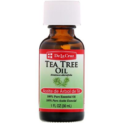 Купить De La Cruz Масло чайного дерева, 100% чистое эфирное масло, 1 ж. унц. (30 мл)