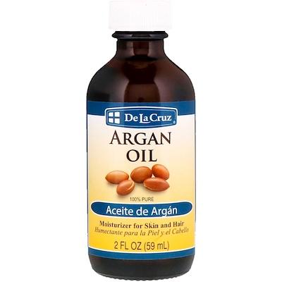Купить De La Cruz Аргановое масло, 100% чистое, 2 ж. унц. (59 мл)