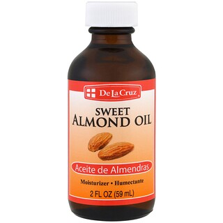 De La Cruz, Sweet Almond Oil, Moisturizer, 2 fl oz (59 ml)