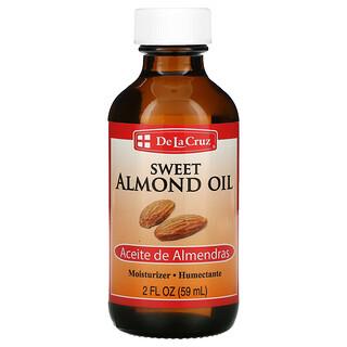 De La Cruz, Sweet Almond Oil, Moisturizer, 2 fl oz (59 ml)