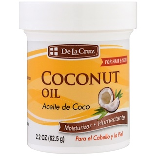 De La Cruz, Кокосовое масло, увлажняющее средство, 2,2 унции (62,5 г)