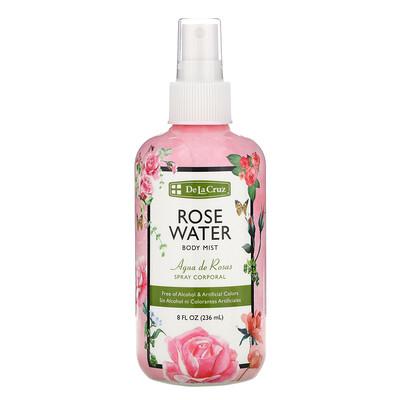 De La Cruz Rose Water Body Mist, 8 fl oz (236 ml)