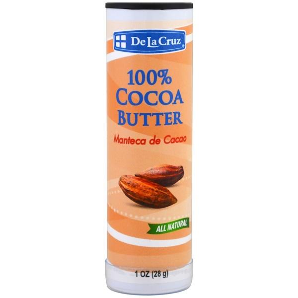 De La Cruz, 100%可可脂條,1盎司(28克)